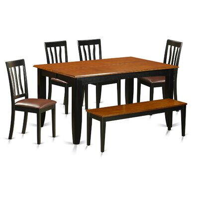 Parfait 6 Piece Dining Set Upholstery: Faux Leather