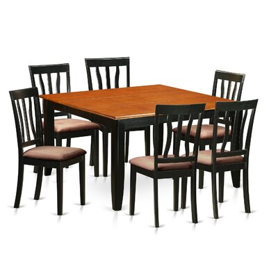 Parfait 7 Piece Dining Set Upholstery: Microfiber Upholstery