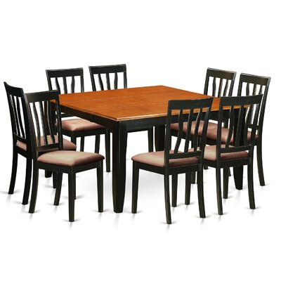 Parfait 9 Piece Dining Set Upholstery: Microfiber Upholstery