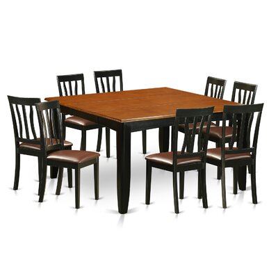 Parfait 9 Piece Dining Set Upholstery: Faux Leather