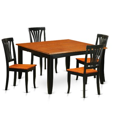 Parfait 5 Piece Dining Set Finish: Black / Cherry