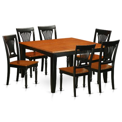 Parfait 7 Piece Dining Set Finish: Black / Cherry