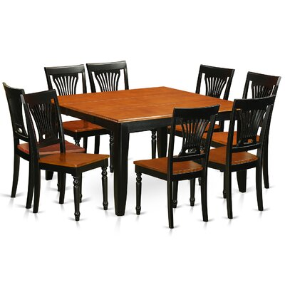 Parfait 9 Piece Dining Set Finish: Black / Cherry