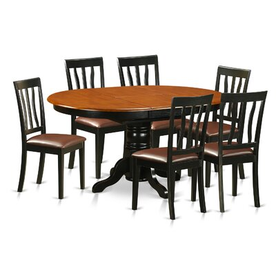 Easton 7 Piece Dining Set Finish: Black and Cherry