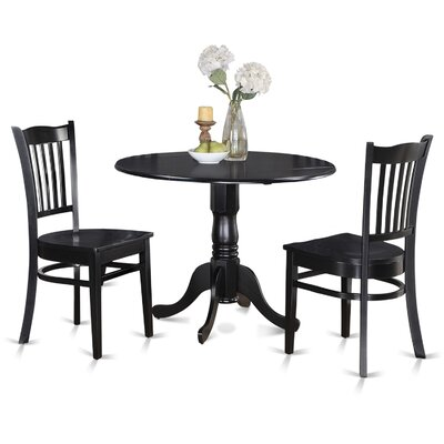 Dublin 3 Piece Dining Set Finish: Black