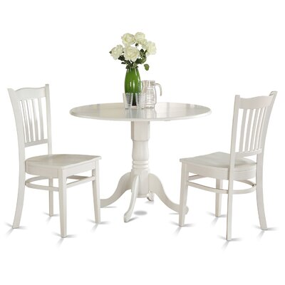 Dublin 3 Piece Dining Set Finish: Linen White