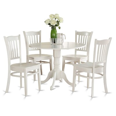 Dublin 5 Piece Dining Set Finish: Off-White