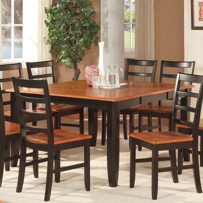 Parfait 5 Piece Dining Set Finish: Black, Upholstery: Wood Seat