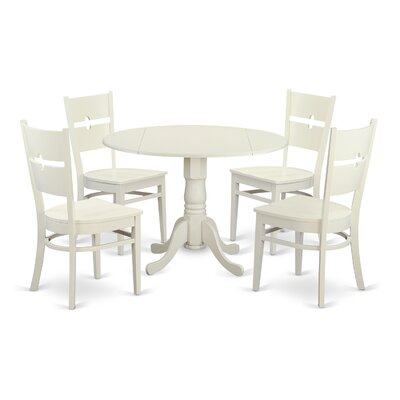 Dublin 5 Piece Dining Set Finish: Linen White