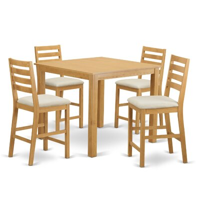 Caf? 5 Piece Counter Height Dining Set Finish: Oak