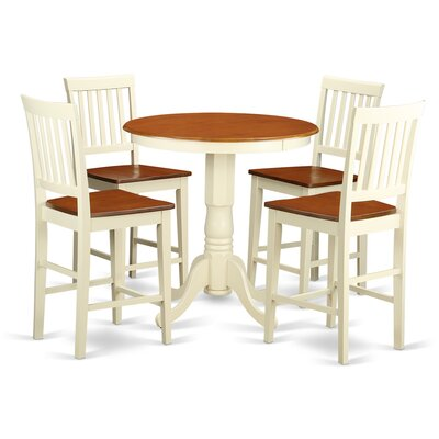Eden 5 Piece Counter Height Pub Table Set