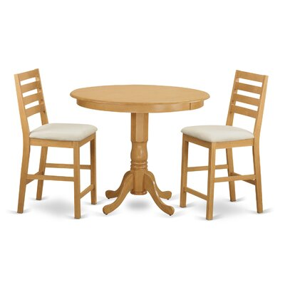 Trenton 3 Piece Dining Counter Height Pub Table Set