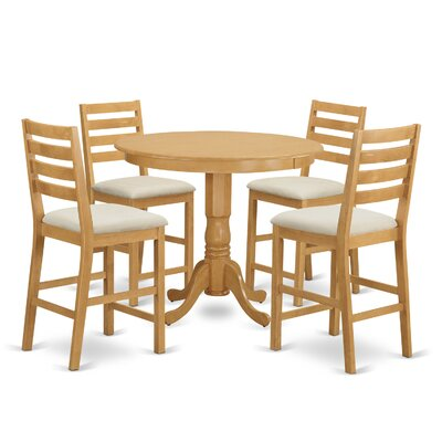 Trenton 5 Piece Dining Counter Height Pub Table Set