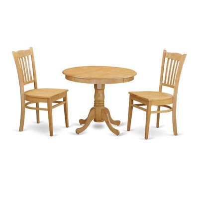 3 Piece Dining Set Finish: Oak