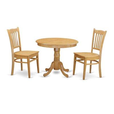 3 Piece Dining Set Finish: Oak