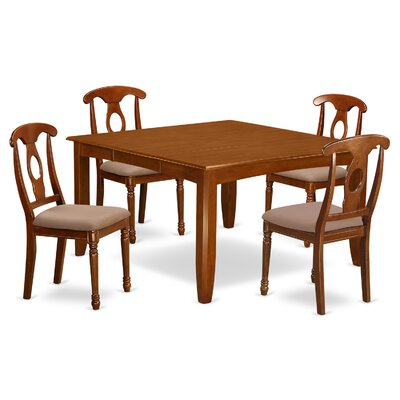 Parfait 5 Piece Dining Set Chair Upholstery: Microfiber