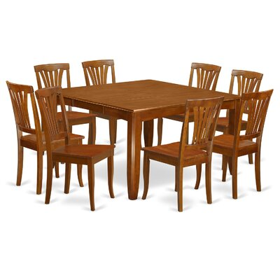 Parfait 9 Piece Dining Set Chair Upholstery: Wood Seat