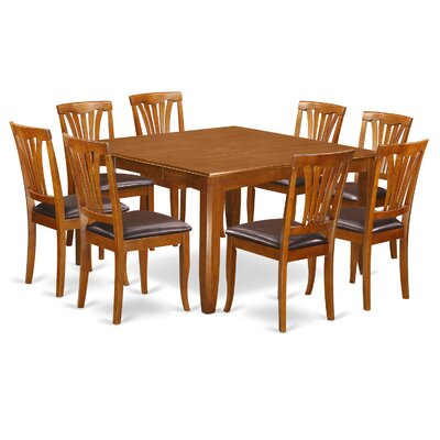 Parfait 9 Piece Dining Set Chair Upholstery: Faux Leather