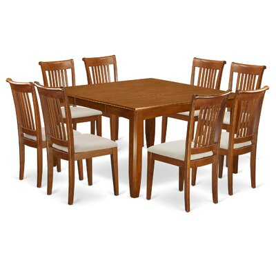 Parfait 9 Piece Dining Set Chair Upholstery: Microfiber