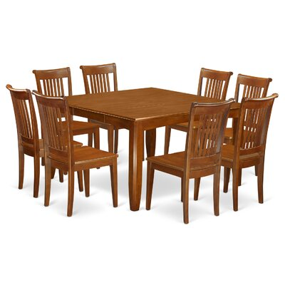 Parfait 9 Piece Dining Set Chair Upholstery: Non-Upholstered Wood