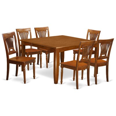 Parfait 7 Piece Dining Set Finish: Saddle Brown