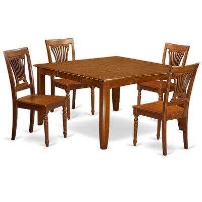 Parfait 5 Piece Dining Set Finish: Saddle Brown