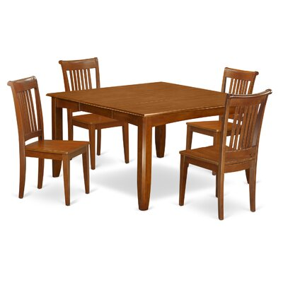 Parfait 5 Piece Dining Set Chair Upholstery: Non-Upholstered Wood