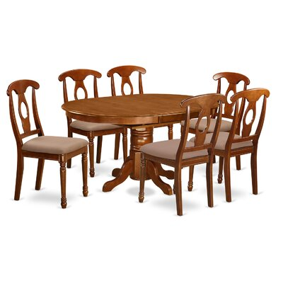 Avon 7 Piece Dining Set Chair Upholstery Microfiber Dining Room Sets