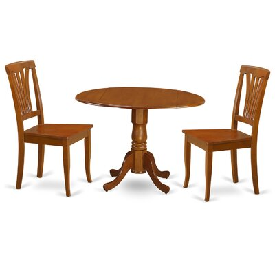 Dublin 3 Piece Dining Set Finish: Saddle Brown