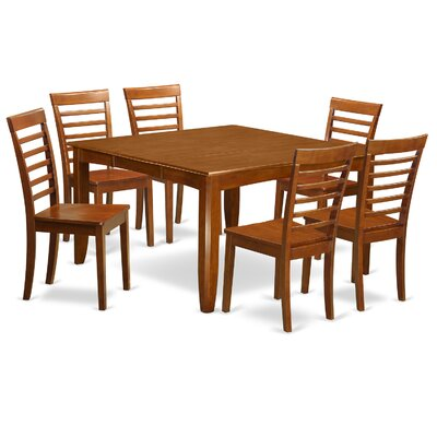 Parfait 7 Piece Dining Set Upholstery: Wood Seat