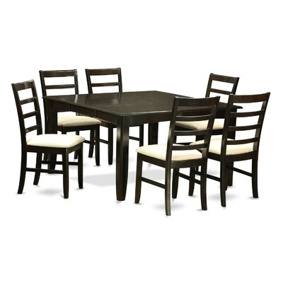 Parfait 7 Piece Dining Set Finish: Black and Cherry
