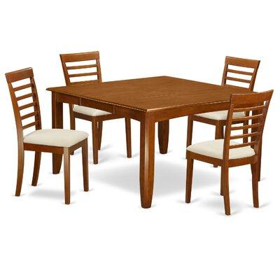 Parfait 5 Piece Dining Set Upholstery: Microfiber