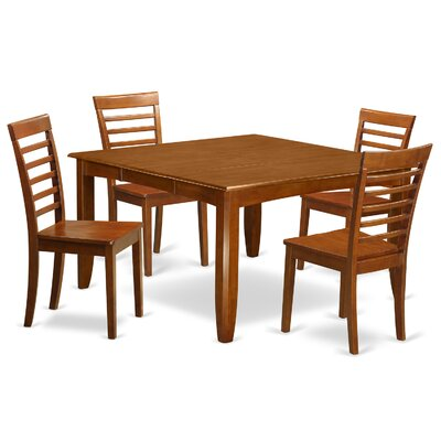 Parfait 5 Piece Dining Set Upholstery: Wood Seat