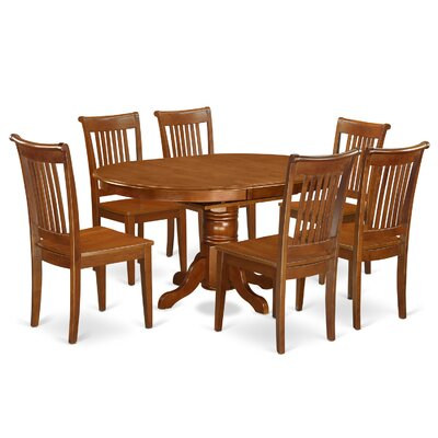 Avon 7 Piece Dining Set Chair Upholstery Non Upholstered Wood Dining Room Sets