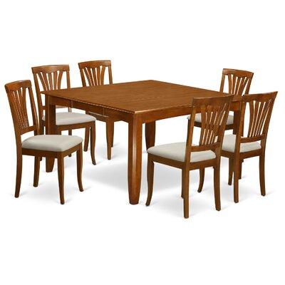 Parfait 7 Piece Dining Set Upholstery: Microfiber