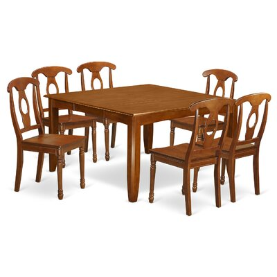 Parfait 7 Piece Dining Set Chair Upholstery: Non-Upholstered Wood