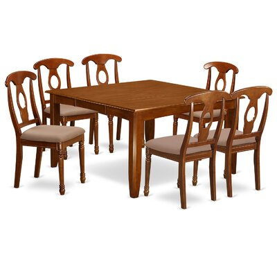 Parfait 7 Piece Dining Set Chair Upholstery: Microfiber