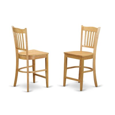 Groton Counter Height Side Chair (Set of 2) Finish: Oak