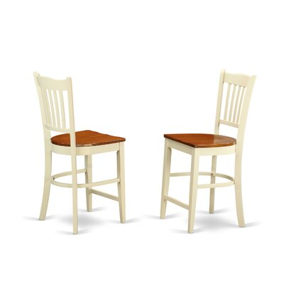 Groton Solid Wood Dining Chair (Set of 2) Finish: Buttermilk / Cherry