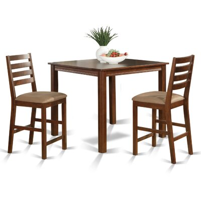 Caf� 3 Piece Counter Height Dining Set Finish: Espresso