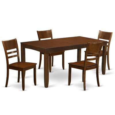 lynfield 5 piece dining set finish espresso dining room sets homelegance hanh 5 piece 64x38 dining room set in espresso