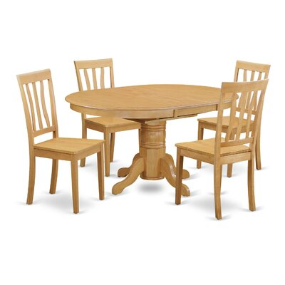 Easton 5 Piece Dining Set Finish: Oak