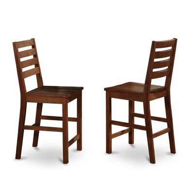 Caf� Counter Height Side Chair (Set of 2) Side Chair Finish: Oak, Side Chair Upholstery: Wood Seat