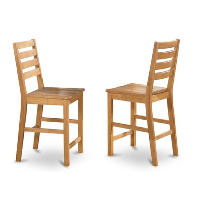 Caf� Dining Chair (Set of 2) Side Chair Finish: Oak, Side Chair Upholstery: Wood Seat