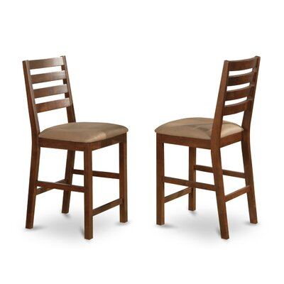 Caf� Dining Chair (Set of 2) Color: Espresso, �Upholstery: Wood Seat
