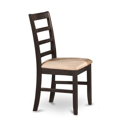 Parfait Side Chair (Set of 2) Side Chair Upholstery: Black and Cherry, Side Chair Finish: Wood Seat