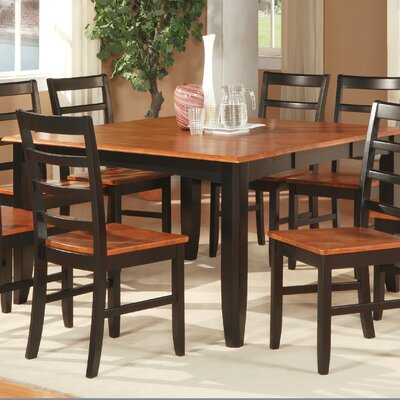 Parfait Dining Table Color: Black and Cherry
