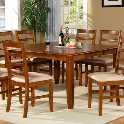 Parfait Dining Table Table Finish: Saddle Brown