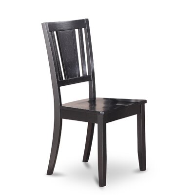 Dudley Solid Wood Dining Chair (Set of 2) Finish: Black