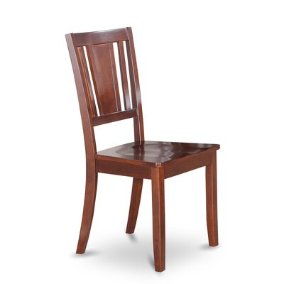 Dudley Solid Wood Dining Chair (Set of 2) Side Chair Finish: Mahogany